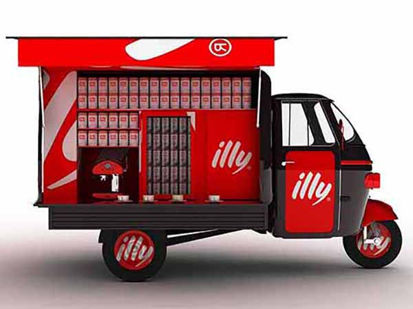 camion transporte cafe Illy