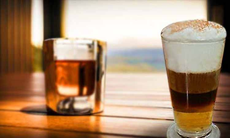 copa cafe irlandes vaso whisky